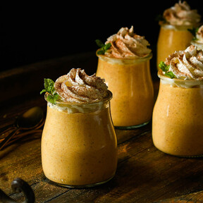 Mousse de calabaza, receta de postre fácil, rápido y sorprendente (con vídeo incluido)