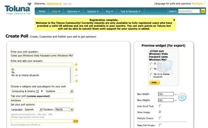 Toluna, completísimo servicio de creación de encuestas online