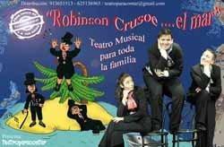 Robinson Crusoe: teatro musical para niños en Madrid