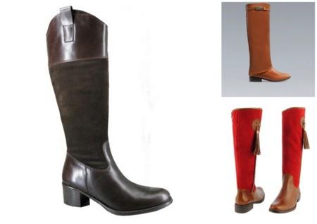 341bd5e493 Aunque no hayas montado en tu vida en caballo puedes llevar unas botas de  estilo hípico sin problemas. Son elegantes y su combinación de piel y  serraje las ...