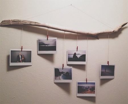 Hazlo tú mismo: una rama para colgar tus mejores fotografías