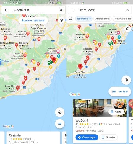 Google Maps Envío Domicilio