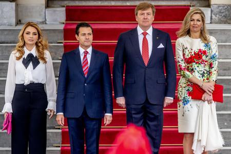 Máxima de Holanda y Angélica Rivera juntas en La Haya, así han sido sus looks antes de verse con la Reina Letizia