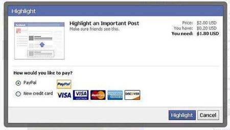 ¿Pagarías para que tus actualizaciones de Facebook destacaran frente al resto?