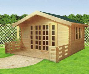 Casetas de madera en el jardín