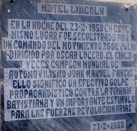 Hotel Lincoln secuestro Fangio