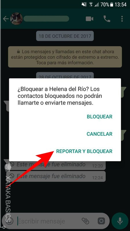 Reportar Y Bloquear