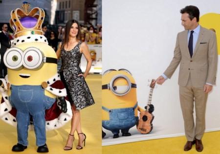 Sandra Bullock y Jon Hamm en la premiere