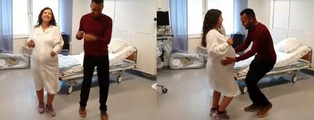 Una embarazada baila bachata para ayudar a calmar los dolores de parto