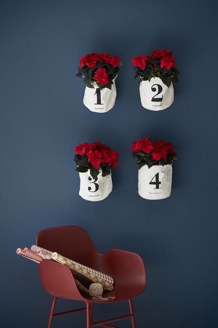 2016 Poinsettia Adviento Corona Pared Decoracion Es
