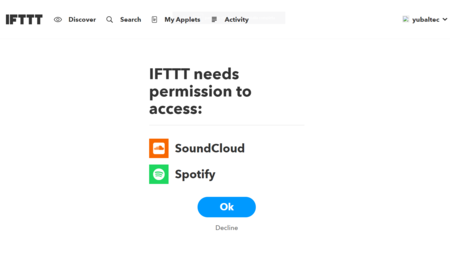 Ifttt Needs Permission To Access