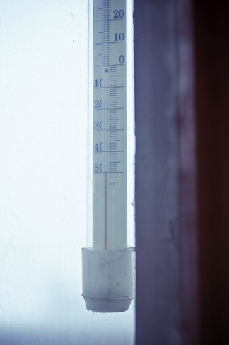 Minus 50 degrees Celcius. Thermometer