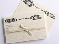 Preciosas tarjetas para recetas hechas a mano