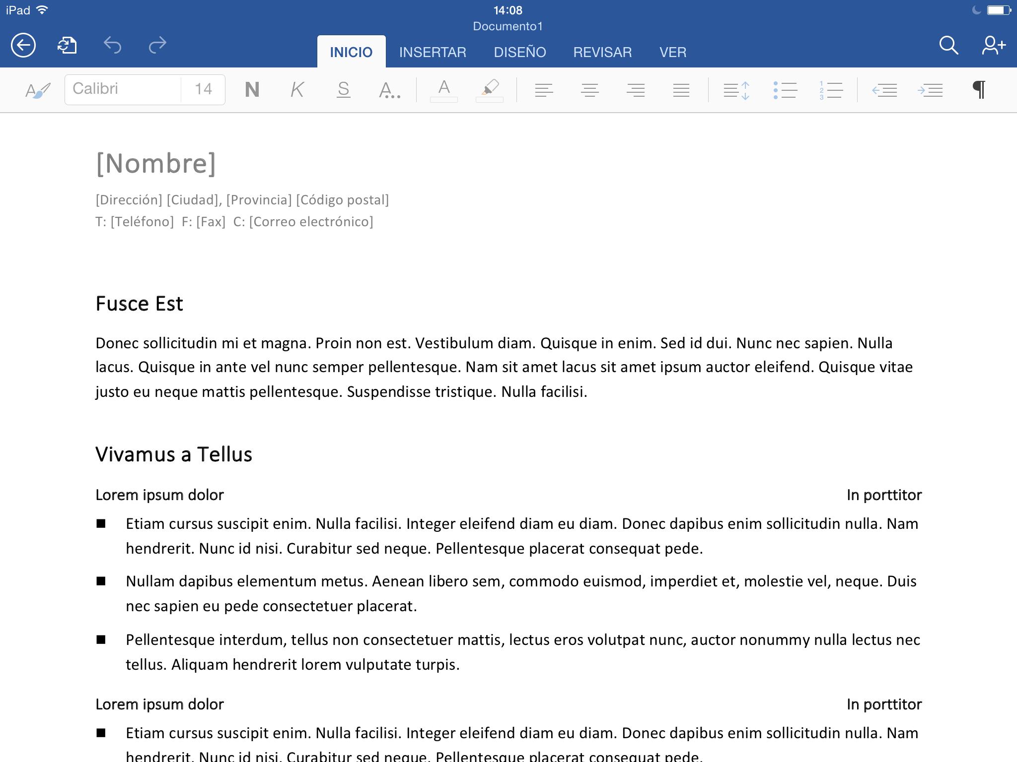 Foto de Microsoft Word para iPad (3/8)