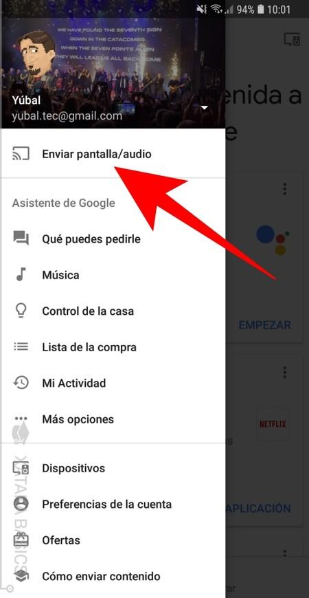 Enviar Pantalla Audio