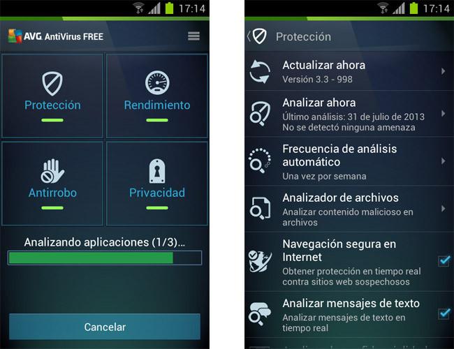 localizar celular avg android