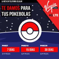 Virgin Mobile no se queda atrás y también lanza en México sus paquetes para Pokémon Go