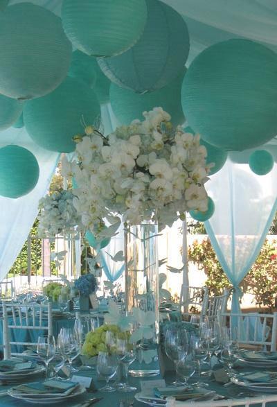 Convierte el azul Tiffany en testigo de tu boda