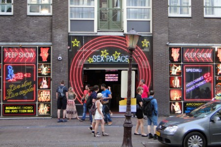 Sex Theater In Amsterdam Red Light District