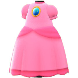 Animal Crossing New Horizons Set Mario Vestido Peach