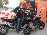 Las KTM 125 Duke listas para pasar a manos de sus probadores