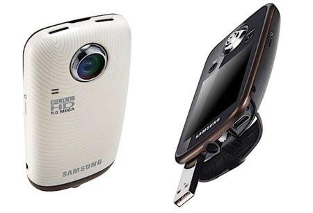 Samsung HMX-E10 une alta definición, tamaño compacto y lente que gira