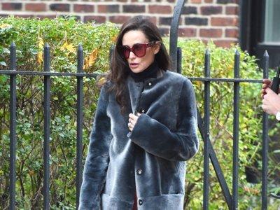 Demi Moore cae rendida ante los faux fur coats de colores
