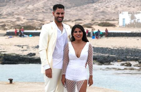 Isa Pantoja y Asraf Beno en la boda de Anabel Pantoja y 'El Negro' | GTRES