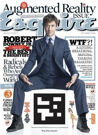 Realidad aumentada en la revista Esquire