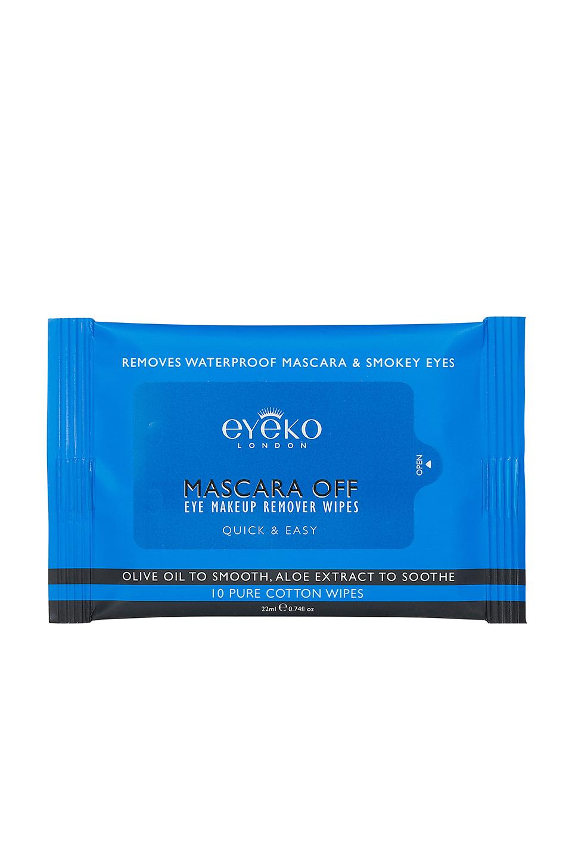 Pack de 10 toallitas desmaquillantes de algodón 100% de Eyeko
