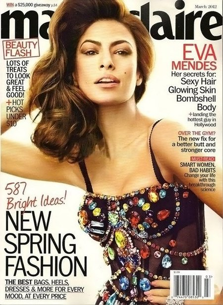 Eva Mendes nos muestra otra inspiración en las divas italianas para la portada de Marie Claire