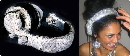 Auriculares con cristales Swarovski
