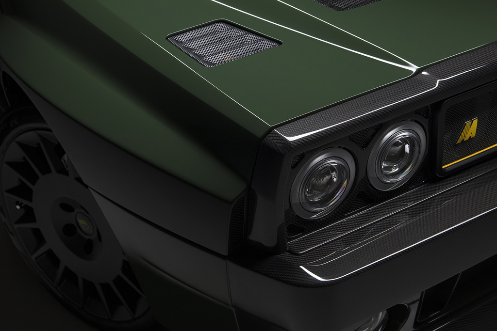 Lancia Delta Futurista ópticas delanteras
