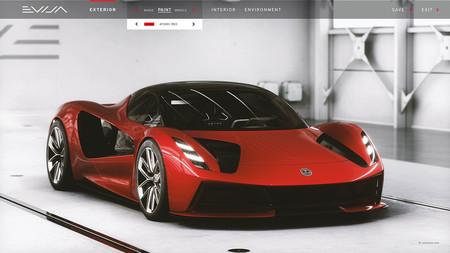 Los clientes del Lotus Evija, el deportivo eléctrico de 2.000 CV, ya pueden configurar su coche como en el 'Gran Turismo'