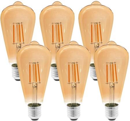 Etrogo LED Edison Bombillas Vintage E27 con Filamento 4W