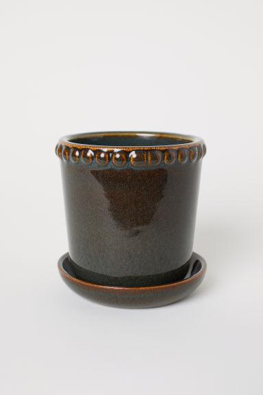 Maceta pequeña de cerámica