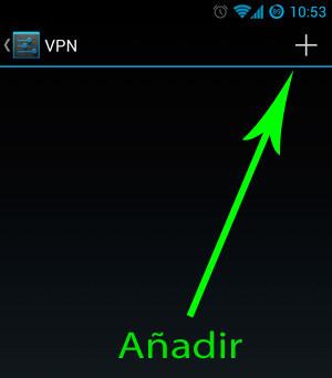 Añadir VPN