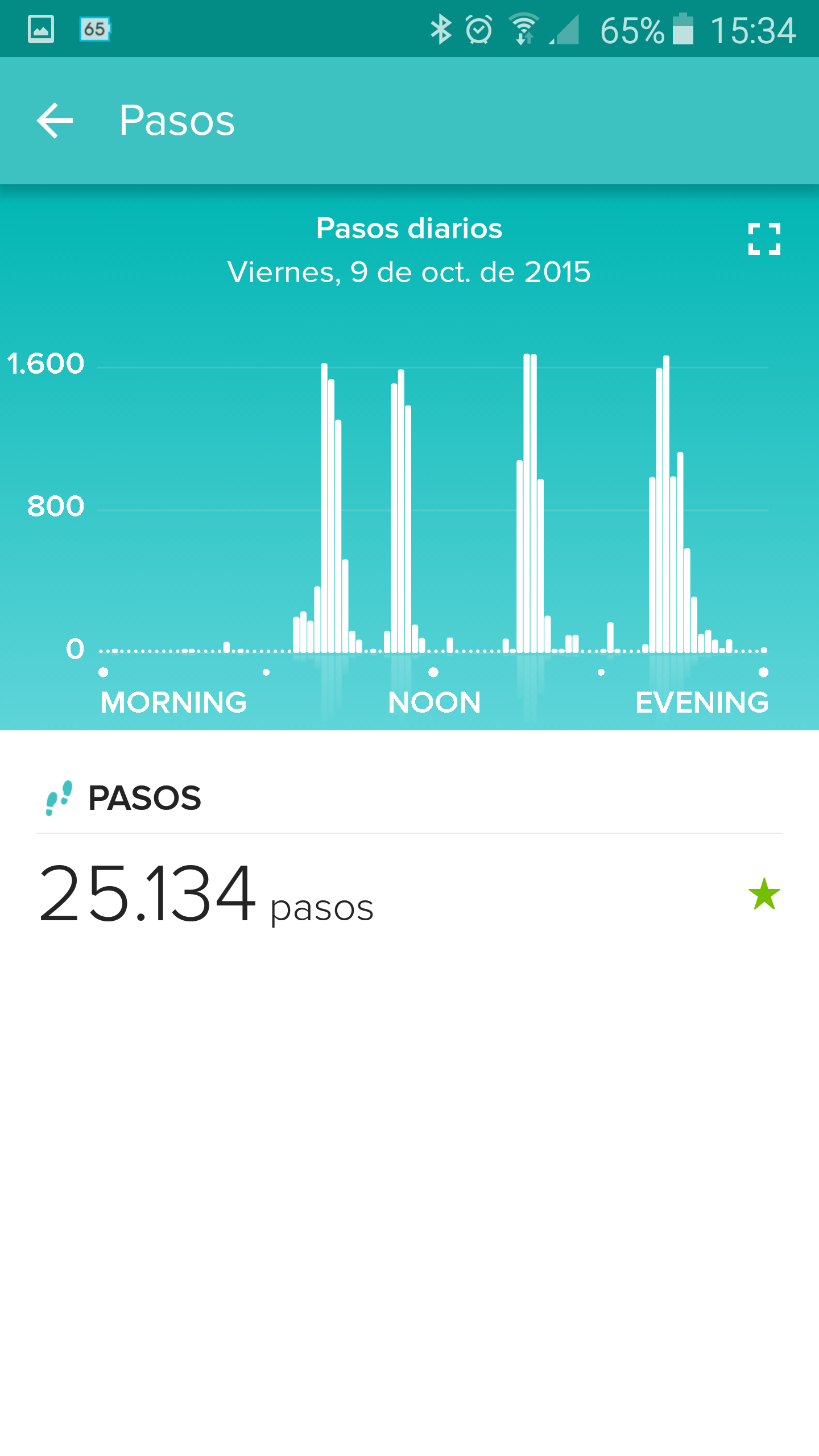 Foto de Aplicación Fitbit en smartphone (7/19)