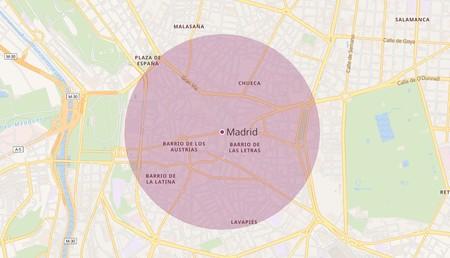 Esta web te muestra cuánto es un kilómetro alrededor de tu casa con un solo clic