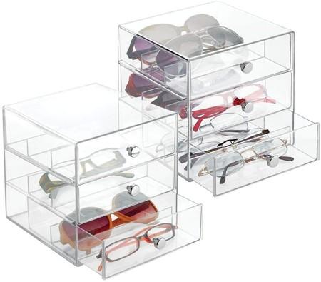Cajonera transparente para gafas