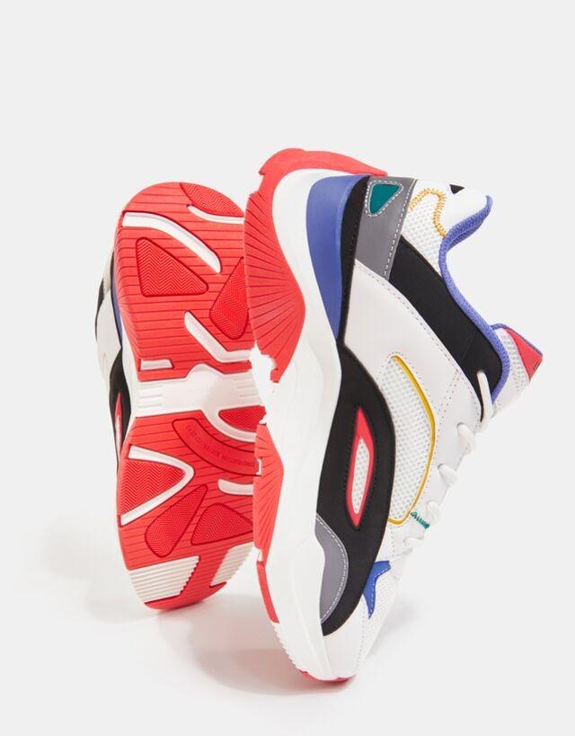 Zapatillas deportivas blancas con detalles multicolor