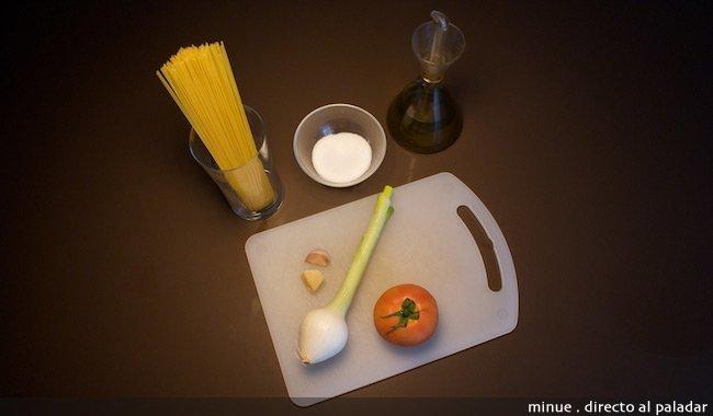 pasta a la marinara - ingredientes