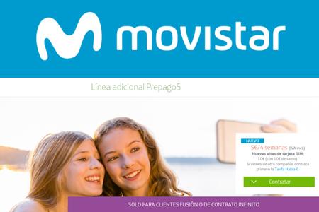 Movistar estrena línea móvil adicional para tarjeta prepago por 5 euros