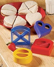 Bocadillos de distintas formas para los niños