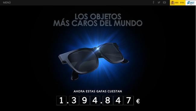Dgt Campaña Objetos Gafas Sol Más Caros Mundo