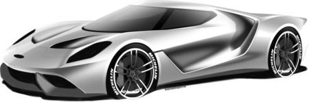 Ford Gt 2016 Sketch 1