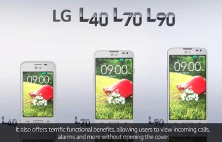 Nuevos modelos LG L40, L70 y L90