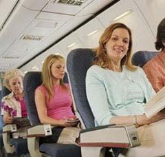 Normas básicas para convivir en el avión