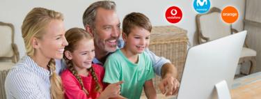Comparativa de tarifas familiares con fibra, varias líneas móviles y televisión con Movistar, Orange y Vodafone