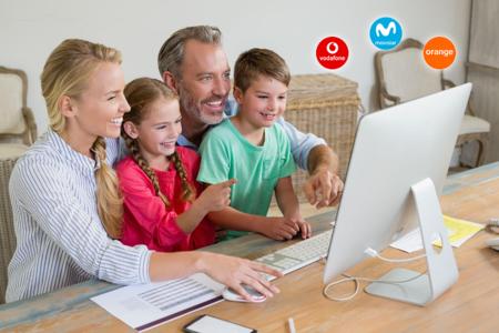 Comparaison des tarifs familiaux avec différentes lignes mobiles fibre et télévision de Movistar Vodafone et Orange